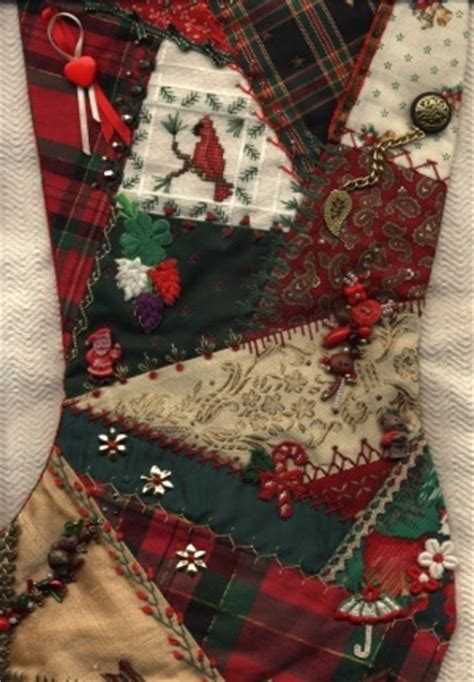 pattern for crazy quilt christmas stocking crazy quilt gallery christmas stockings by annie whitsed