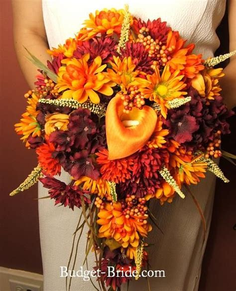 121 best images about fall wedding flowers on bouquets orange wedding flowers