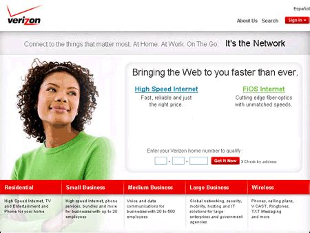 Verizon Home Page by Step 5 Testing Your Connections High Speed