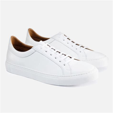 white mens sneakers s low top sneakers white leather beckett simonon