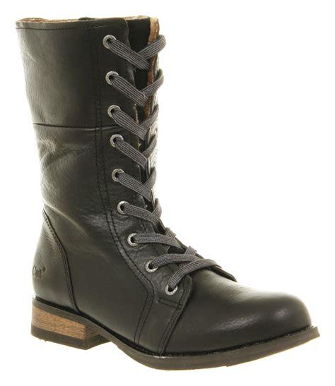 fleece lined boots womens caterpillar narcissa lace up fleece lined black
