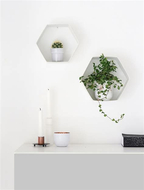 Wall Plant Shelf by And Easy Diy Hexagon Wall Shelves For Plants
