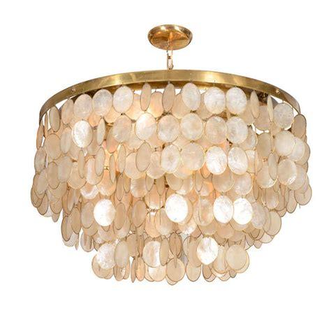 shell chandelier captivating capiz shell chandelier at 1stdibs