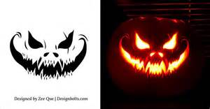 10 free scary pumpkin carving patterns free