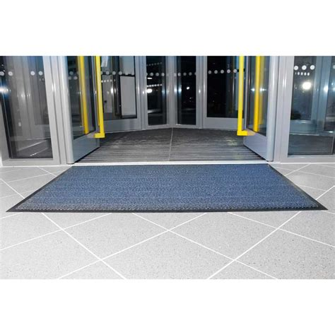 Entrance Mats by Vynaplush Entrance Mats Blue Brown Steel