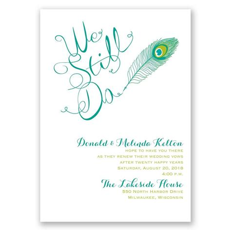 Peacock Calligraphy Vow Renewal Invitation Invitations By Dawn Vow Renewal Invitations Templates
