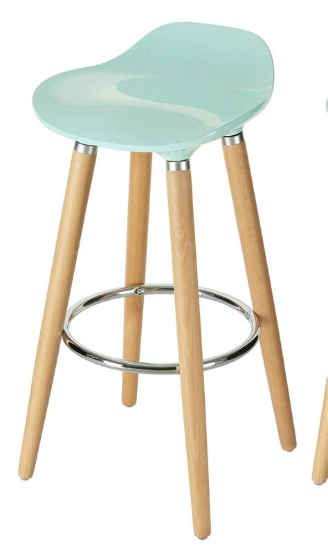 Blue Wooden Bar Stools by Orolay Blue Kitchen Breakfast Bar Stool Abs Plastic Seat