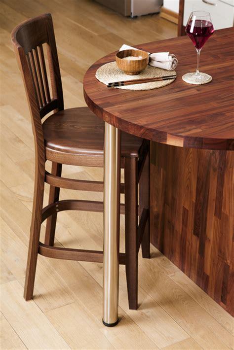 stylish breakfast bars  solid wood kitchens  top