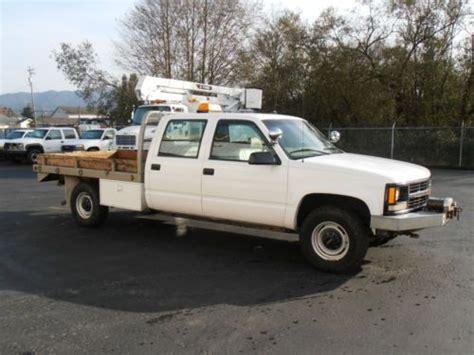 how cars run 1999 gmc 3500 seat position control buy used tillamook pud surplus 1999 gmc crew cab 3500 4x4 custom flatbed in tillamook oregon