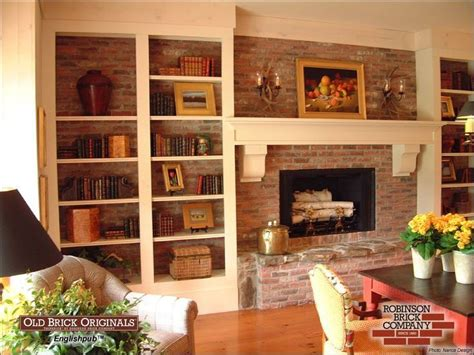 bookshelves to cover brick fireplace wall march 2010