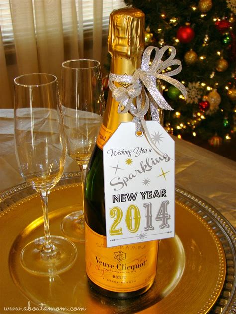 new year wine gift festive new year s ideas printable about a
