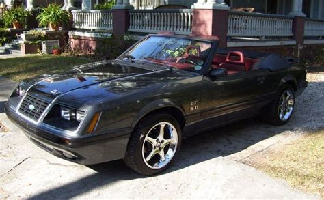 84 mustang convertible charcoal black 1984 ford mustang gt convertible