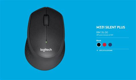 Mouse Logitech M331 logitech m331 m221 wireless silent mice now in malaysia
