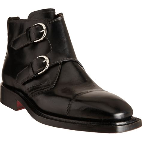 monk boots bettanin venturi monk boot in black for