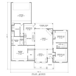 Open Floor Plans For Small Homes Rear Garage
