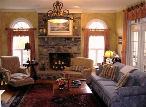 Country Cottage Armchairs French Country Designs Family Room Transitional Family