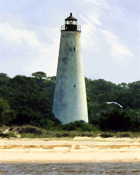 georgetown lighthouse giclee for sale cottage bungalow