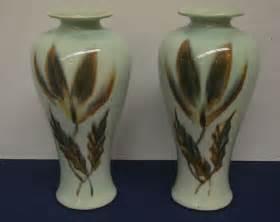 vintage vontury pottery green vase ebay