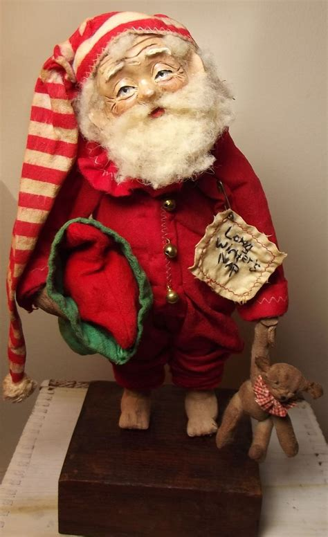 holiday creations santa doll for sale 671 best images about primitive santas on folk nicholas d agosto and containers