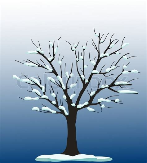 How To Decorate My New Home by Vector Tree With Snow Stock Vector Colourbox