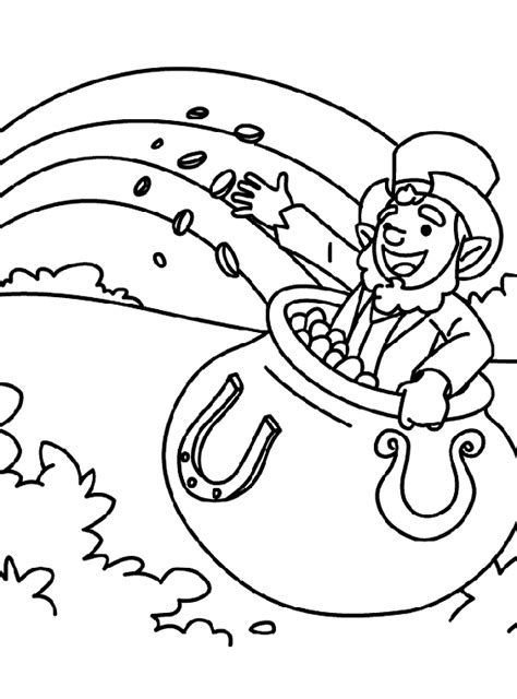 march coloring pages crayola a pot of gold coloring page crayola com