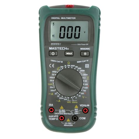 capacitor digital multimeter mastech ms8260c digital multimeter dmm hz temperature meter tester capacitor w hfe test lcd