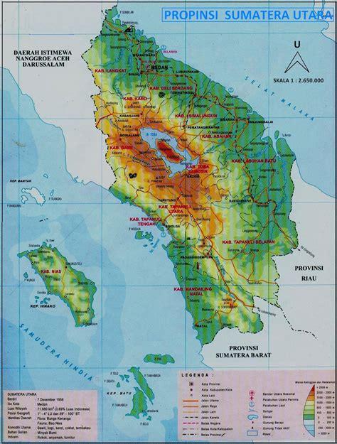 peta sumatera utara geografi regional indonesia