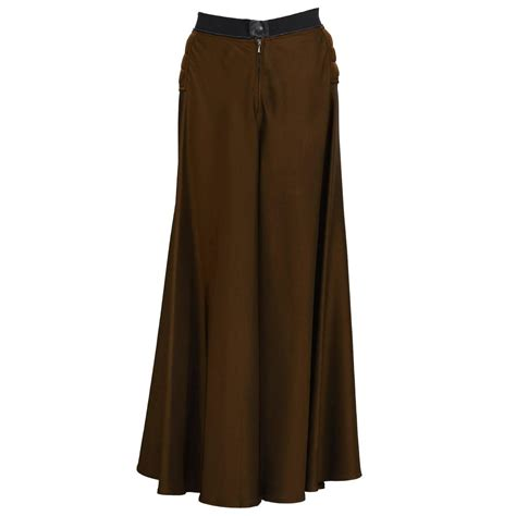 Brown Maxi 2000 s gaultier brown maxi skirt for sale at 1stdibs