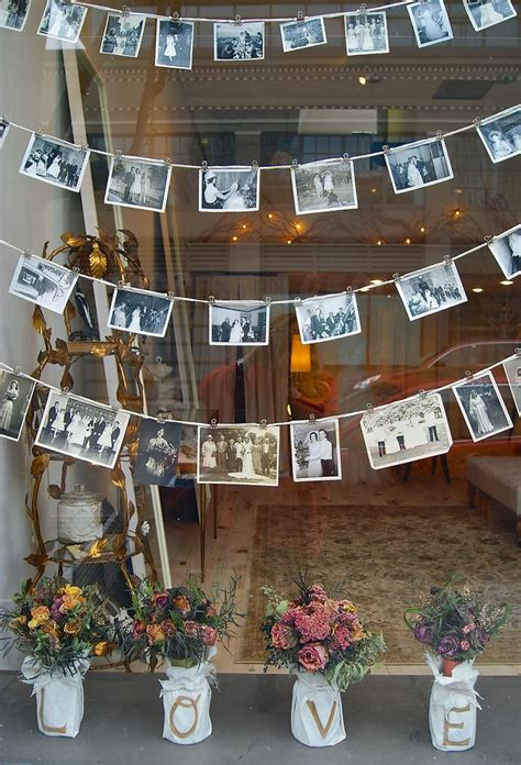 shop window display vintage wedding portraits the english department pinterest wedding