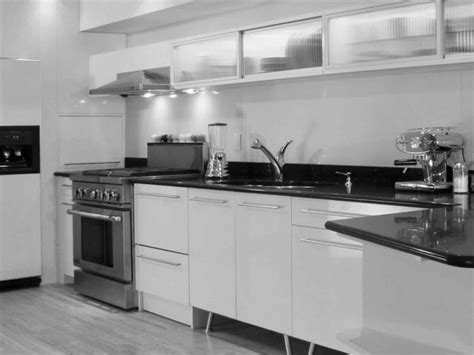 Kitchen Black Countertops White Cabinets Bathroom