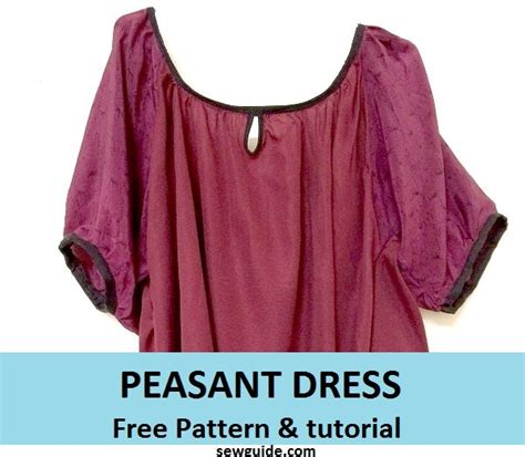 pretty peasant dress  diy sewing pattern sew