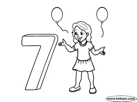 7th birthday coloring pages coloring pages
