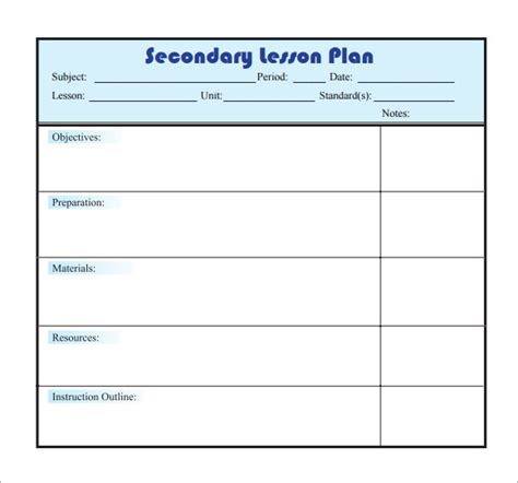 creating a lesson plan template sle lesson plan 9 documents in pdf word