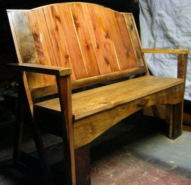 custom made benches handmade reclaimed wood bench by patricks upholstery