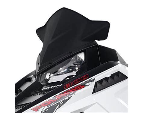 Windshield Black 45 snowmobile low mid windshield matte black polaris snowmobiles