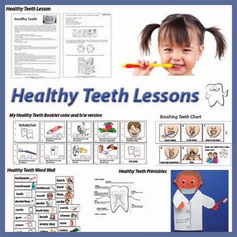 kindergarten activities dental health kindergarten and preschool healthy teeth lessons and