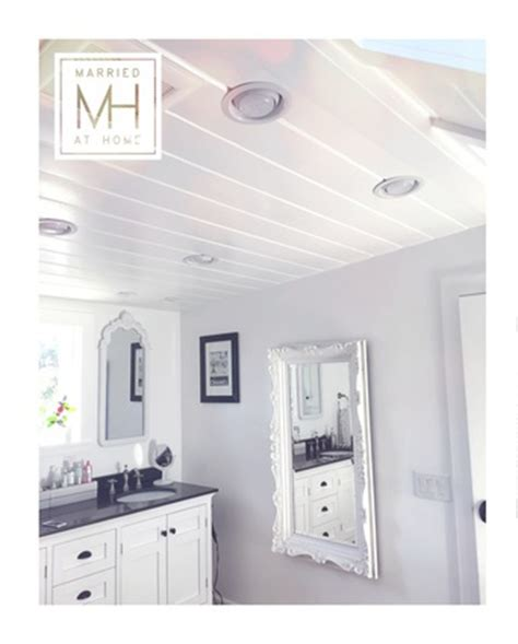 Bathroom Ceilings Ideas by Farmhouse Detail Shiplap Walls Married At Home