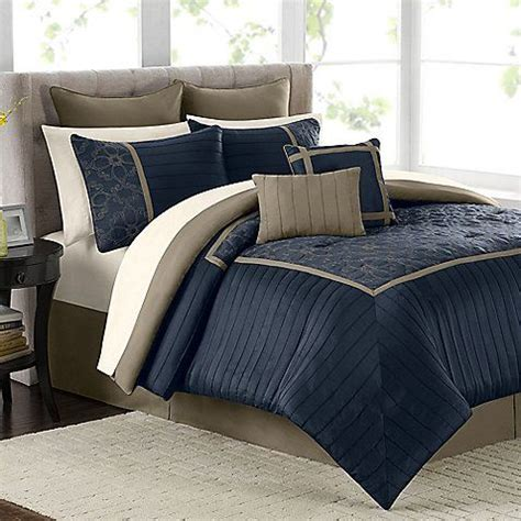 navy bedding set mira 12 piece comforter set in navy my house pinterest