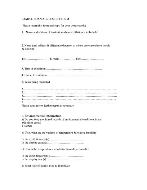 Printable Sle Loan Contract Template Form Laywers Template Forms Online Pinterest Ba Agreement Template