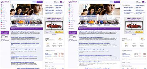 yahoo web page layout yahoo redesigns webdesigner depot