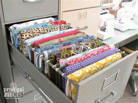 fabric crafts storage hometalk repurposed sewing fabric storage