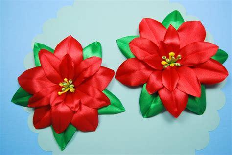 natali doma tutorial пуансеттия рождественская звезда из лент diy