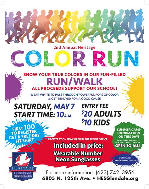 color run registration 2nd annual heritage elementary color run heritage