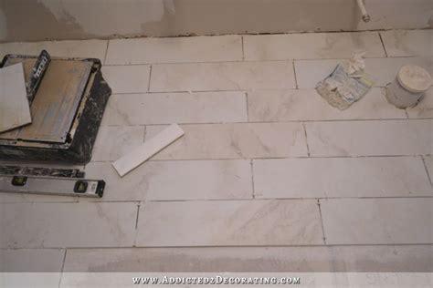 Pictures Of Tiled Bathroom Floors by Tiled Bathroom Floor Progress Plus A Few Tiling Tips