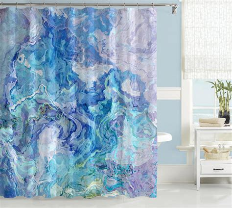 abstract bathroom art abstract art shower curtain contemporary bathroom decor aqua