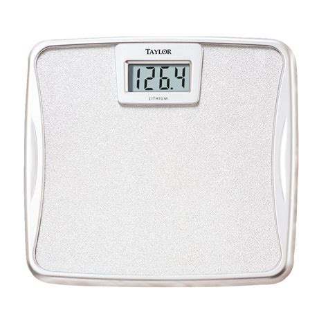 bathroom digital scale taylor lithium battery digital bath scale 73294012 the home depot