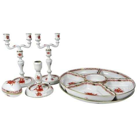 Porcelain Table L by Collection Of Herend Bouquet Porcelain Table Accessories For Sale At 1stdibs