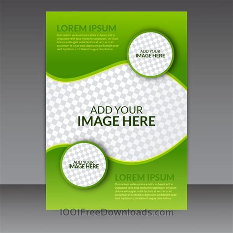 flyers templates free free vectors green business vector flyer template abstract