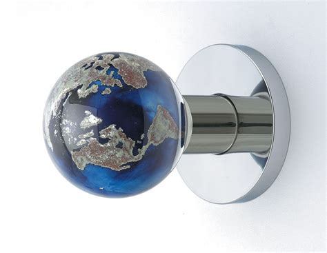 Glass Globe Door Knob Handmade World Globe Doorknob By Out Of The Blue Design