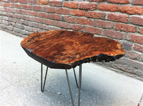 live edge table with glass and poplar burl timber salvabrani sold claro walnut burl live edge side table with amazing